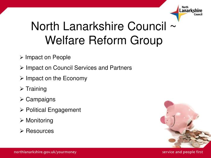 North lanarkshire council welfare reform group