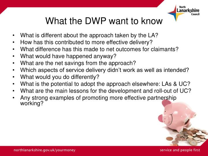 What the DWP want to know