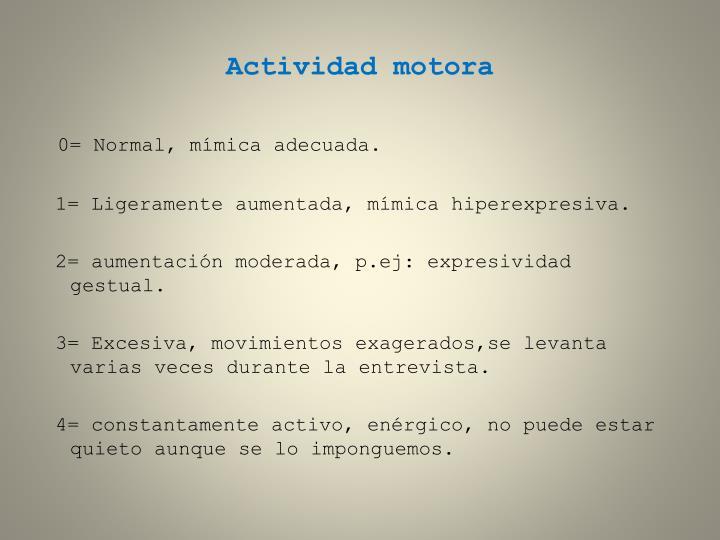Actividad motora
