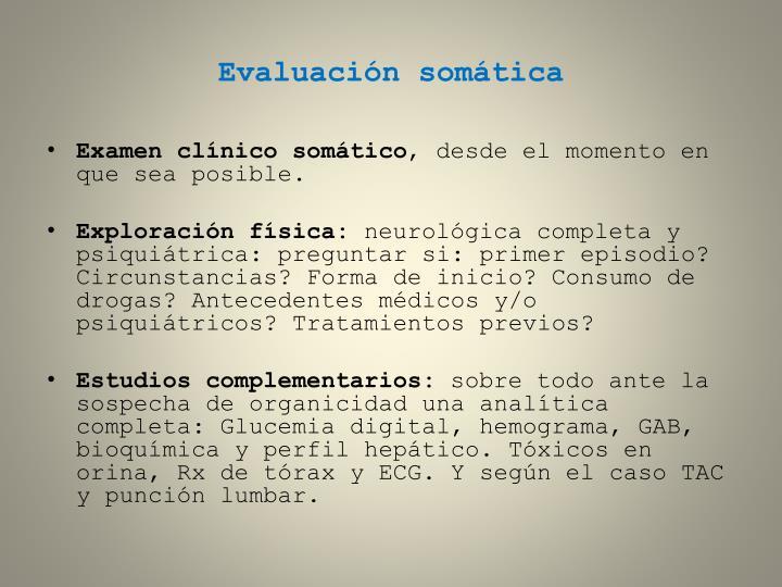 Evaluación somática