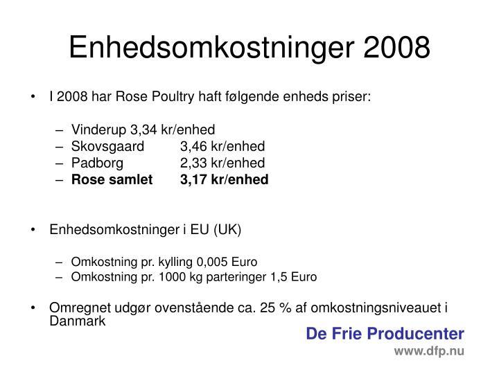 Enhedsomkostninger 2008