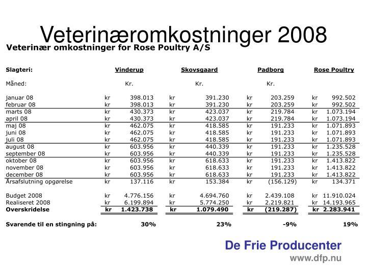 Veterinæromkostninger 2008