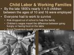 child labor working families