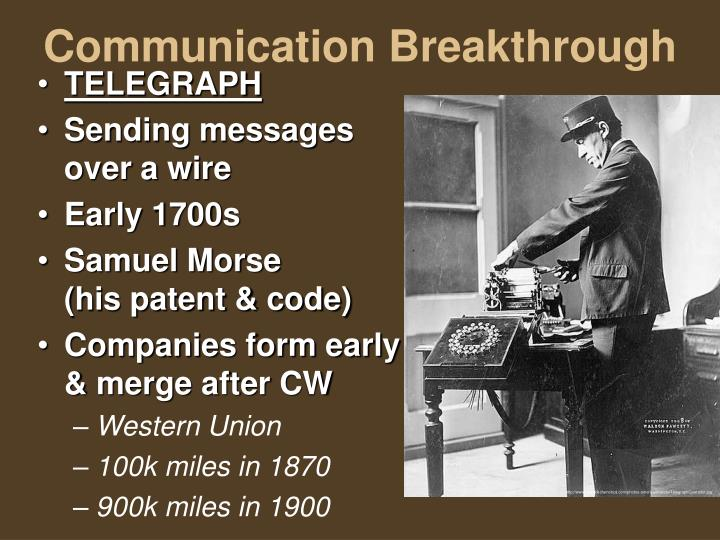Communication Breakthrough