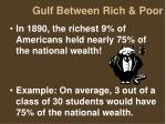 gulf between rich poor
