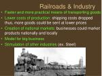 railroads industry