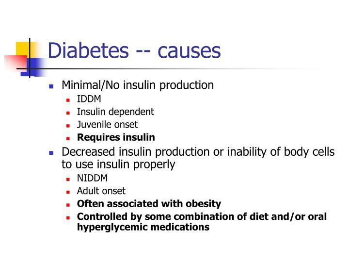 Diabetes -- causes