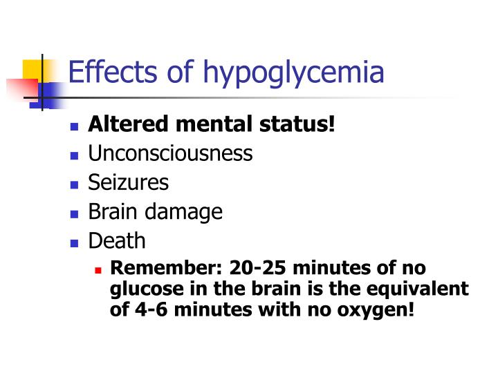 Effects of hypoglycemia