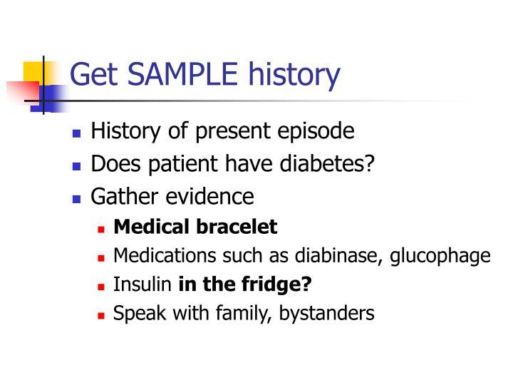 Get SAMPLE history
