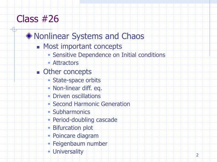 Class #26