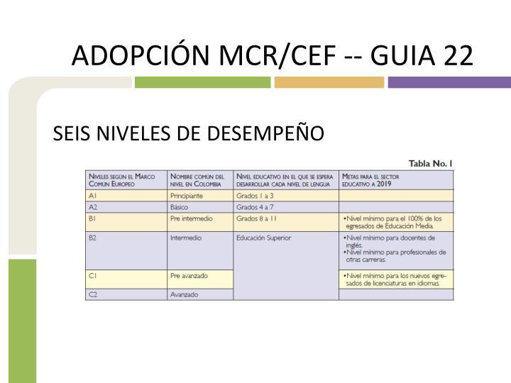 ADOPCIÓN MCR/CEF -- GUIA 22