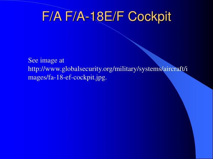 F/A F/A-18E/F Cockpit