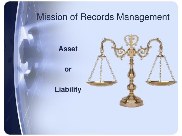 Mission of Records Management