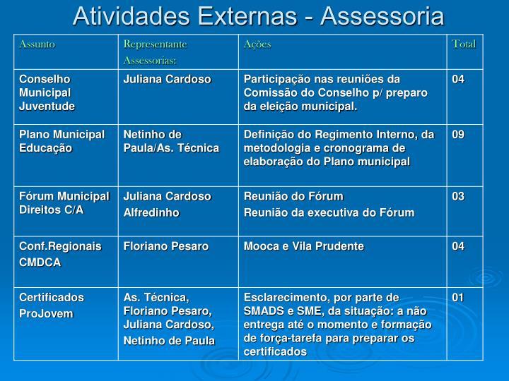 Atividades Externas - Assessoria