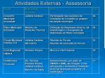 atividades externas assessoria