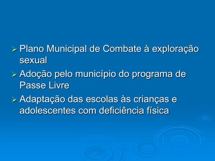 Plano Municipal de Combate à exploração sexual