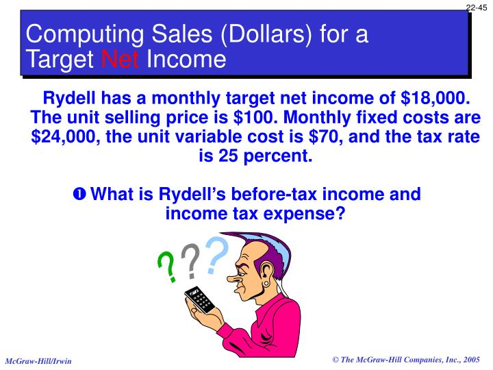 Computing Sales (Dollars) for a