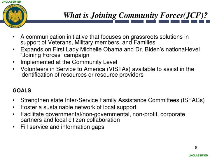 What is Joining Community Forces(JCF)?