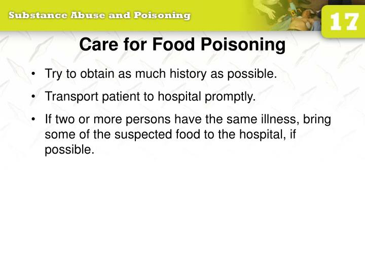 Care for Food Poisoning