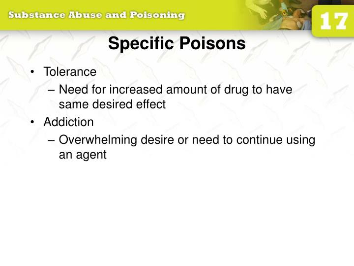 Specific Poisons