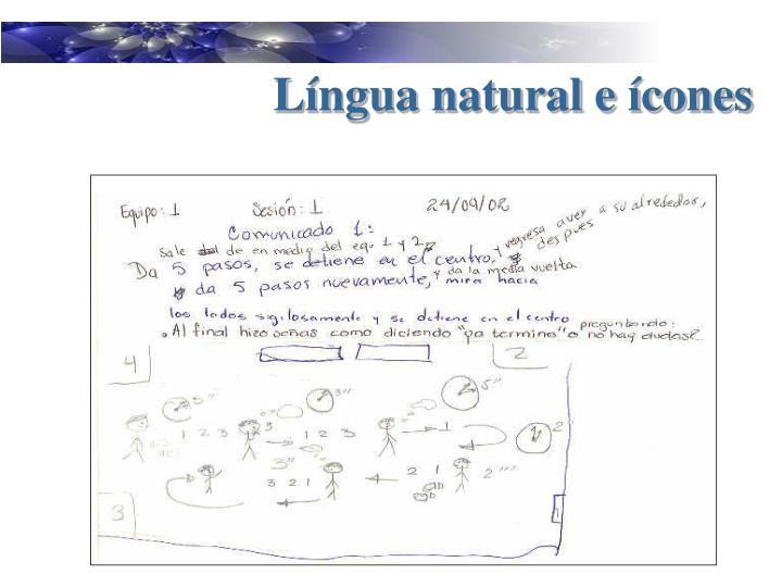 Língua natural e ícones