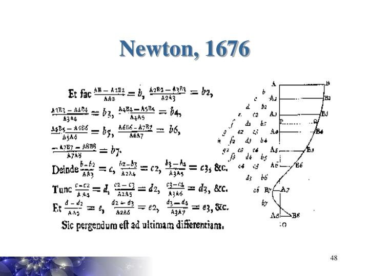 Newton, 1676