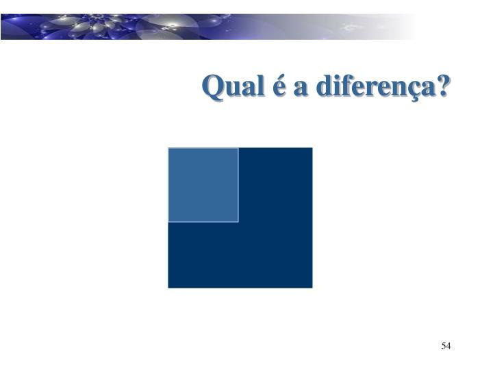 Qual é a diferença?