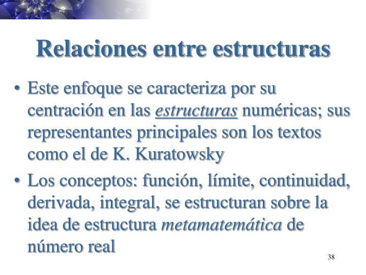 Relaciones entre estructuras
