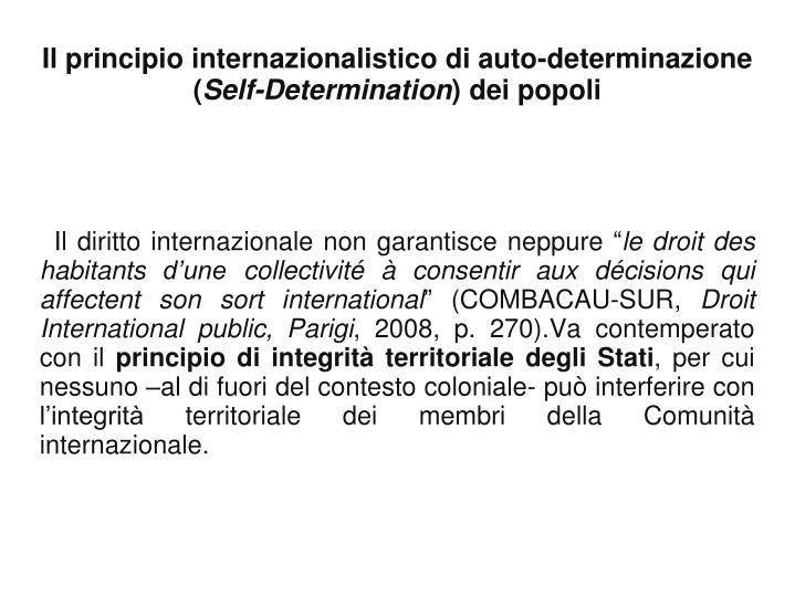 """Il diritto internazionale non garantisce neppure """""""