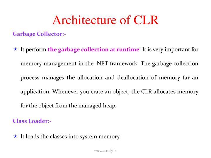 Architecture of CLR