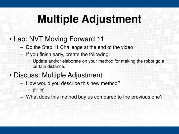Multiple Adjustment
