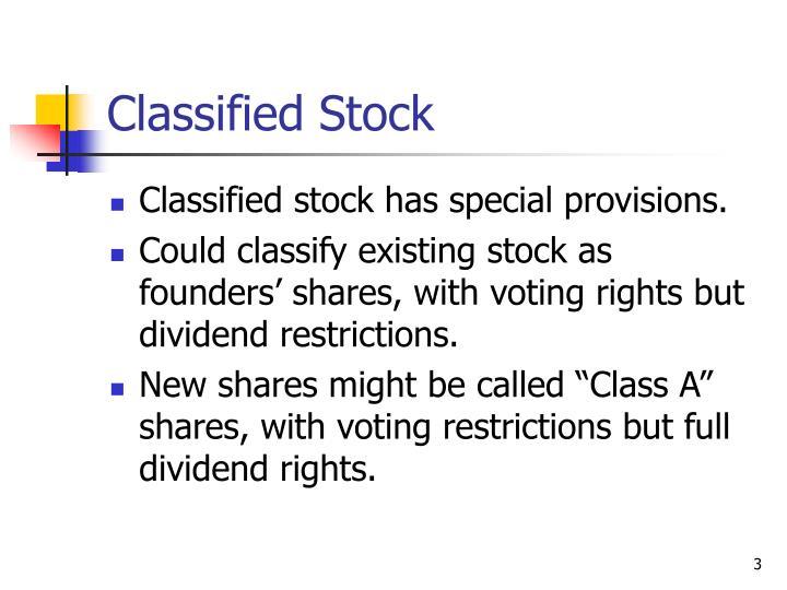 Classified Stock