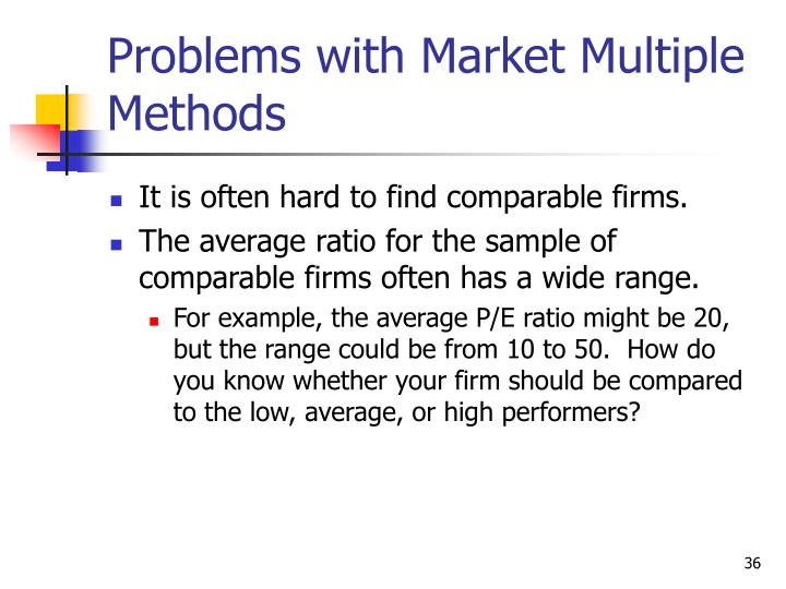 Problems with Market Multiple Methods