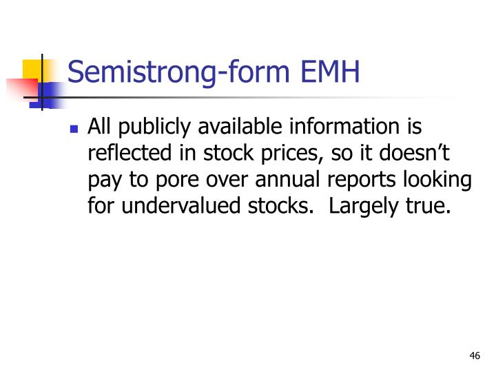 Semistrong-form EMH