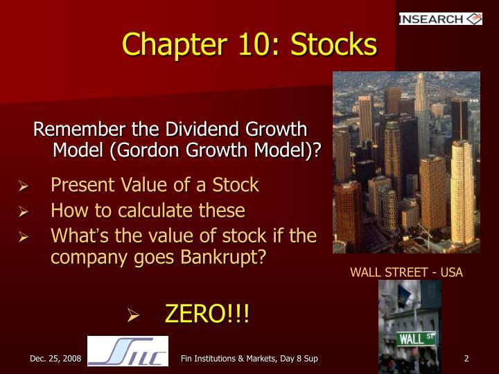 Chapter 10: Stocks