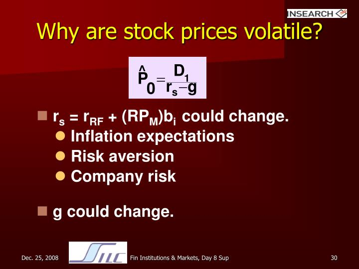 Why are stock prices volatile?