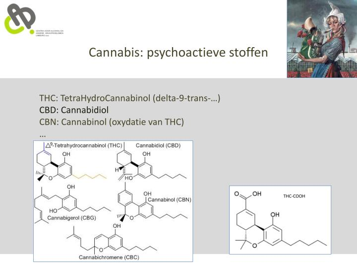Cannabis: psychoactieve stoffen