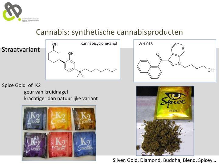 Cannabis: synthetische cannabisproducten