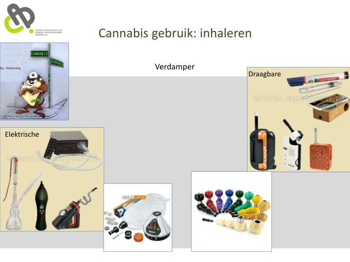 Cannabis gebruik: inhaleren