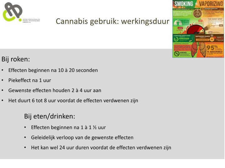 Cannabis gebruik: werkingsduur