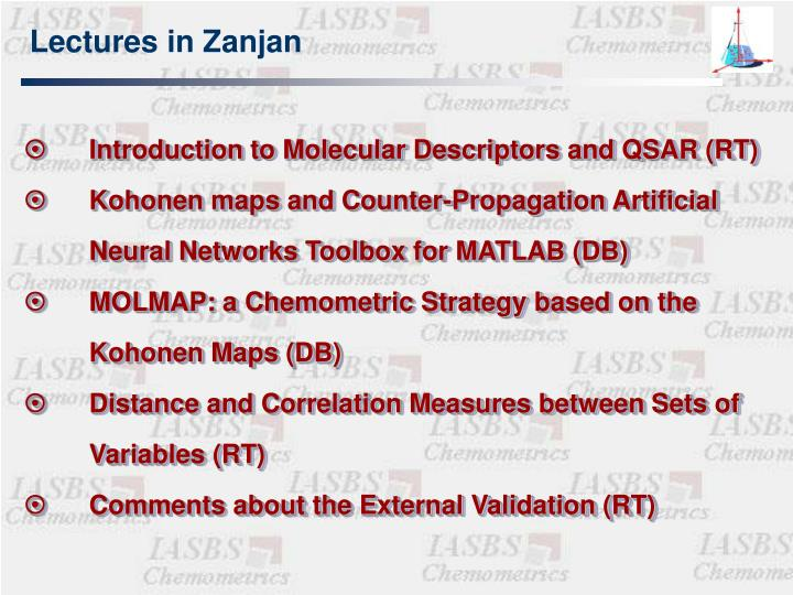 Lectures in Zanjan