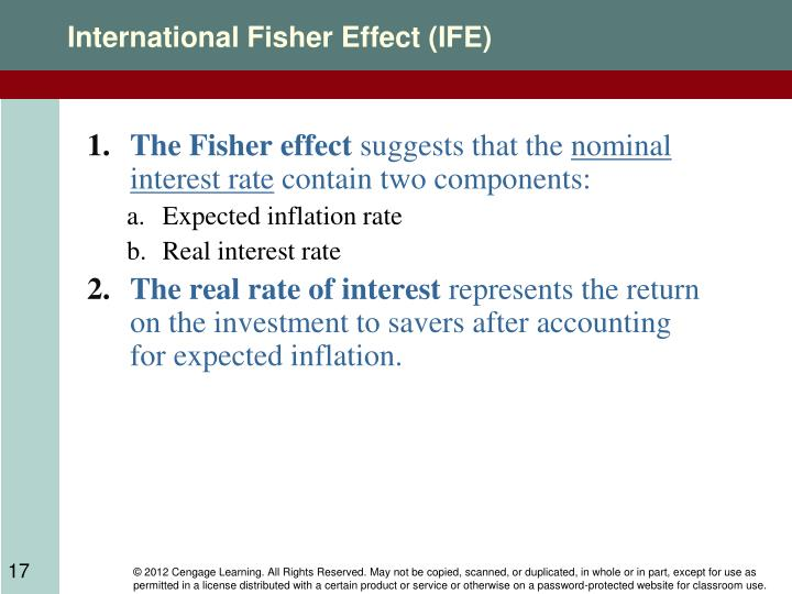 effect of inflation and exchange rate on the ppp theory Relationships between inflation,  • according to ppp, exchange rate movements are  • the international fisher effect (ife) theory suggests that currencies.