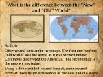 what is the difference between the new and old world