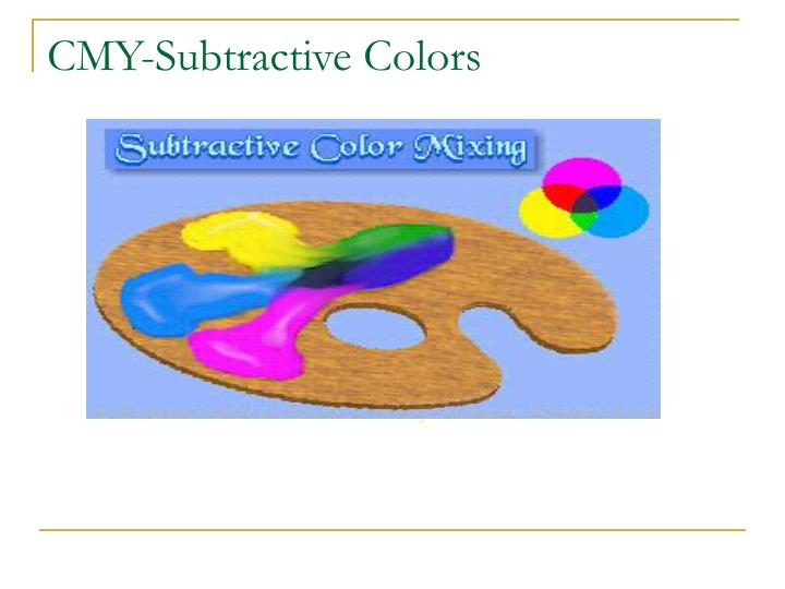 CMY-Subtractive Colors