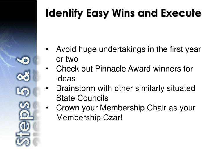 Identify Easy Wins and Execute