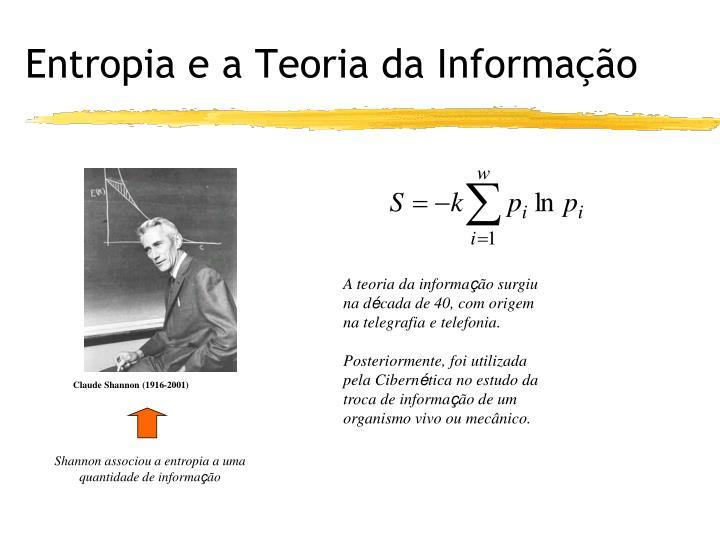 Entropia e a Teoria da Informação