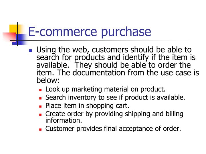 E-commerce purchase