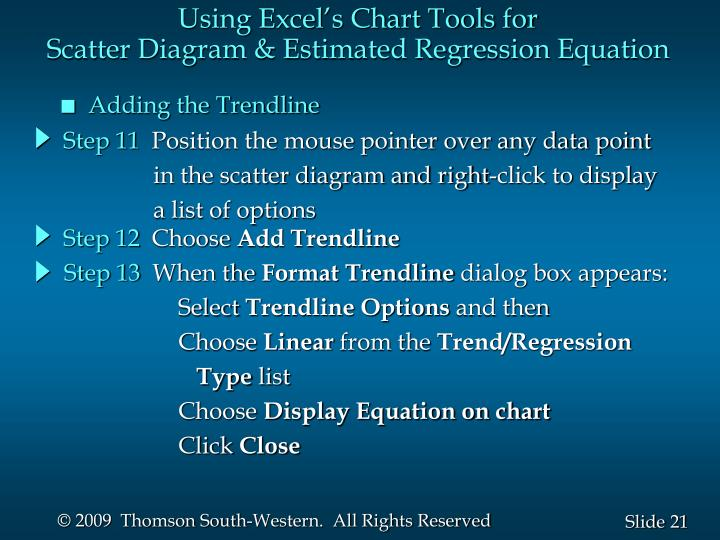 Using Excel's Chart Tools for