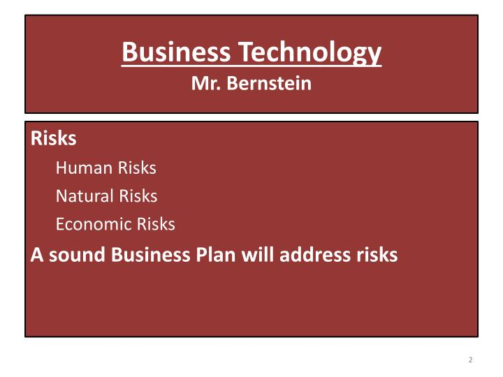 Business technology mr bernstein