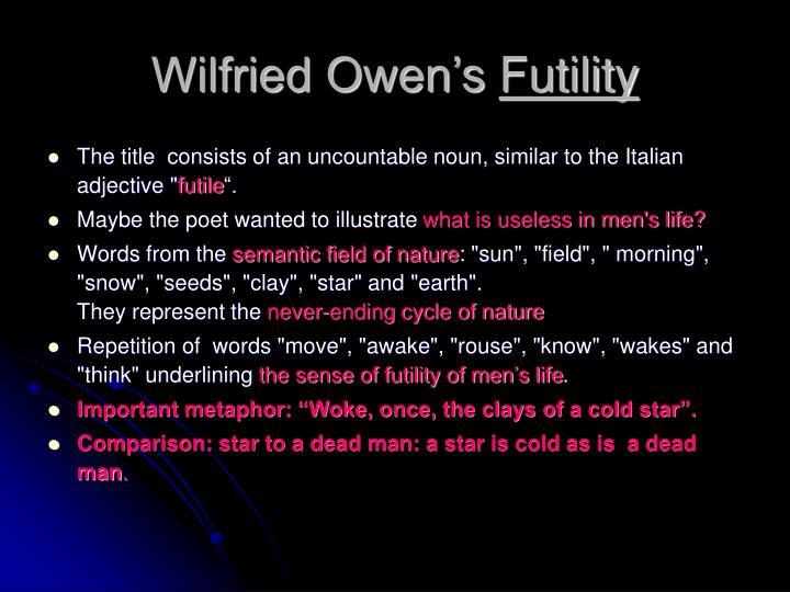 Wilfried Owen's